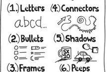 Graphic Recording and Sketchnotes / Visual thinking becomes realized in #sketchnotes and graphic recordings.