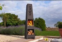 Contemporary Steel Chimeneas / Stylish models designed by La Hacienda, our contemporary steel chimeneas add a little style and sophistication to outdoor areas.