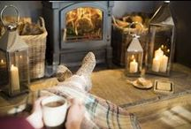 Winter / Oh, the weather outside is frightful, but the fire is so delightful...! Cosy up with blankets, candles, lanterns, books and a fire this winter.