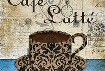 Cafe images decoupage