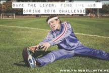 Fitness Fun! / This board is packed with great workouts and motivation, including my favorite, the 2016 Save the Liver, Find the Abs Challenge!  Live healthy.  Live well.  www.pairswellwith.me