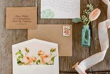 Stationery / As you see the words on (lovely) paper, it can suddenly become real. Here are some of our favorite fonts, papers, and designs for all those invitations, programs, signs, and tags.