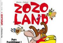 Zozo Land - Parc Paniiiiiique ! - Sandawe / There is worst than prison… There is worst than galleys… There is worst than perpetuity… There is… « Zozoland » !   2 yobs sentenced to a general interest's term recured in the hell of an amusement park. Drawing: Blatte - Scenario: Falzar
