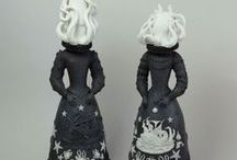 Dolls, sculptures and installations