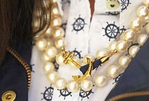 Nautical / Everything Nautical from style to design to food... If I can wear it(clothes dresses shirts blouses skirts pants shoes jewelry scarves rings necklaces earrings bracelets toe rings anklets etc) to if I can decorate w/it(sofas chairs end tables cocktail tables rugs bedding pillows headboards shells photos paintings nets nightstands trunks lighting artwork pottery maps quotes buoys oars tables throws etc) to everything you could eat or use to decorate for entertaining(cakes cupcakes etc) / by Nun Ya