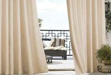 Outdoor Curtain Panels and Drapes / Outdoor Curtain Panels & Drapes create that perfect space.   They define and accent without being obtrusive.  Outdoor curtain panels feature water repellant fabrics and are fade resistant. Choose from thick curtains for outdoor privacy to beautiful and durable sheer fabrics. Perfect for your balcony, screened in patio, lanai or gazebo. Soften and define your outdoor space with our beautiful selection of durable fabrics. Rust proof metal grommets pleat and hang beautifully.