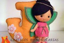 *** Chalecos, felt creations