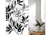 Basic Black Home Decor Ideas / Bath and Home Decor in Black and White.