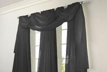 Elegance Voile Sheers in Black, White, Sage Green, Blue, Cranberry, and Gold