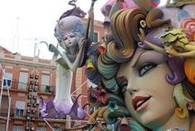 """Fallas en Valencia / The Fallas Festival is not only a dazzling festival declared more than 45 years ago such as """"Fiesta of International Tourist Interest"""". Las Fallas is an event that involves thousands of people and a whole city with preparations all year long""""."""