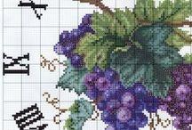 Cross stitch Clock's,Fan's 17