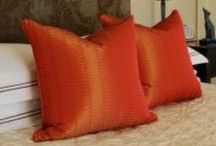 Pillows by Designs By Designs By Jennifer / Throw pillows can add style, color, sophistication, comfort, patterns, texture, and anything else you want to you couch, arms chair, beds, benches....you get the picture. At Designs by Jennifer we design custom pillows from a our high end lines of fabrics specifically for your home and unique style.