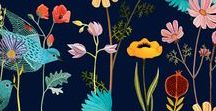 Floral Fabrics / It's spring. Be inspired! Bring the flowers inside.