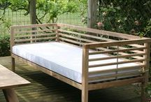 """Makers Garden Seating / """"We love to take great hunks of oak and turn them into contemporary pieces of furniture full of character and history."""""""