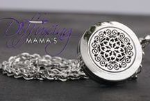 Diffusing Necklaces / We created the original hypoallergenic surgical grade (316L) stainless steel aromatherapy / diffuser lockets for use with essential oils. Visit www.diffusingmamas.com to find your last diffuser necklace.