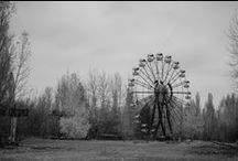 Abandoned amusement park in Pripyat
