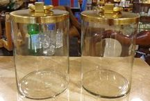 Decorative Jars for a Classic Accent / decorative jars available at Galerie M in Montreal.