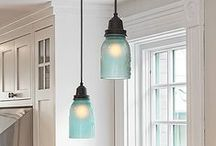 Home Decor Re-Invented / Farmhouse lighting, coastal lighting, blue lighting