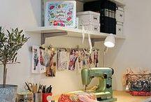 Atelier/Cortinas / decoração / by Gigi Oki