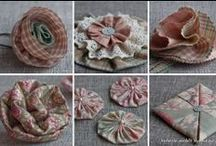 Fuxicos YoYo's/ Flores/Origami / ARTES ... / by Gigi Oki