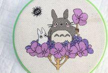 Totoro cross stitch