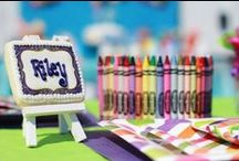 Art Party / Get creative with these great Art Party ideas! For more on party themes, DIY décor and great deals, visit us at inspiredparties.weebly.com!