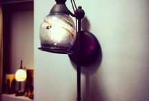 Lamp / Handmade with blow glass