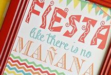 A Fiesta! / Get ready for an awesome Cinco de Mayo Party or throw a colorful Birthday Fiesta! For more theme ideas, DIY decor, great deals and more, visit www.inspiredparties.weebly.com!