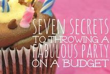 Parties on a Budget! / We could all use party planning tips that'll save us our hard earned money! Here's a collection of great budget friendly party tips!