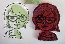 Printmaking: lino and wood