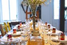 Réception privée à la Confiturerie / Réceptions privées avec chef traiteur pour les hôtes de La Part des Anges, espace d'hébergement à la Confiturerie Tigidou, île d'Orléans, Québec