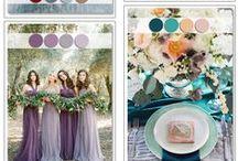 wedding colour schemes / Farbpaletten für Hochzeiten