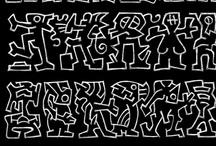 Asemic writing / Asemic writing, abstract calligraphy, wordless writing, post-literate, non-verbal communication. illegible writing, Art, manuscript hand writing