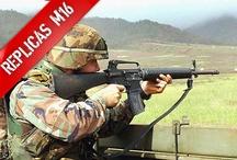 M16 A3 Airsoft / Tablón con las Réplicas Airsoft M16 A3 del ejército de Estados Unidos hechas por el mejor fabricante de Airsoft, ICS. Todas las Réplicas que ves en este tablón las podrás adquirir en la página web de Réplicas Airsoft. Sólo pincha en la que desees para ver su ficha