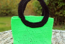 Crochet bags / Crochet Bags in polyestercord. Nice and easy