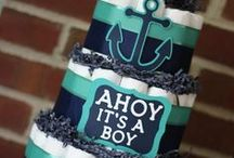 Baby Showers / baby shower inspiration. themes, colors schemes, games, décor and menu idea.