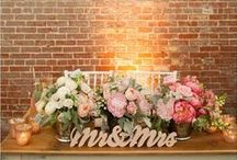 Bride and Groom Tables / Reception ideas for the bride and groom table!