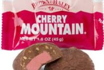 MOUNTAIN® Bars / Pacific Northwest favorite candy bars in peanut butter, vanilla and cherry flavors