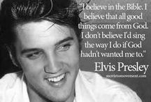 """Elvis Presley / Elvis Presley was/is and forever will be someone who could touch the world with his music in so many ways. Listening to a gospel song he sang """"Where No One Stands Alone"""" caused me to fall on my knees & direct my heart & soul toward heaven... / by Tina West"""