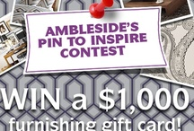 "Pin to Inspire Contest / WIN $1000.00 in furnishings - Enter the Pin to Inspire contest! To get started, create a board of your own called ""Ambleside Rooms"" and repin the contest announcement image. Follow the steps to enter and visit our website for more info: http://www.amblesidewindermere.ca/"