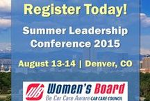 About the Women's Board / The Car Care Council Women's Board is comprised of auto care professionals dedicated to providing opportunities, education and career leadership to women in the auto care industry. Here is information on upcoming activities and events of the Women's Board.