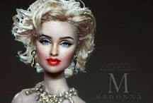 Madonna by Noel Cruz / A repainted and restyled Fashion Royalty becomes the ultimate Material Girl; Madonna Ciccone! You can see more of Noel's work at ncruz.com. Madonna was created for myfarrah.com. / by Farrah Fawcett