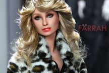 Farrah Fawcett 6.0 / A Fashion Royalty Doll is repainted and restyled in the likeness of Farrah Fawcett by artist Noel Cruz of ncruz.com for myfarrah.com.