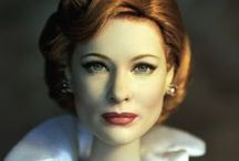 Cate Blanchett / Cate Blanchett won an Oscar for her 2013 film Blue Jasmine but she is also just as well known for her amazing theatre work. An excellent actress who is not only beautiful but magnificent at everything she is in. In 2015 She was Lady Tremaine in Cinderella and a doll was produced with her likeness. Here are photos of that doll repainted and restyled by artist Noel Cruz of ncruz.com and other shots of Cate Blanchett, mother and actress.