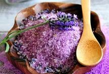 natural products / homemade scrubs, bath salts, body butter, masks with natural products.