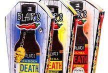 Blair's Hotsaucen & Snacks / Hotsaucen und Chili-Snacks, die auf der Scoville-Skala die höchsten Werte erreichen.