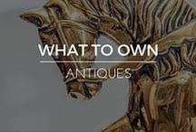 What to Own | Antiques / Shop RubyLUX for unique 20th Century interior home decor, exterior garden decor, decorative art, furniture and lighting, fine art, antiques, vintage and retro collectibles, fashion clothing designs, fashion accessories, and antique, vintage, contemporary gemstone jewelry. www.RubyLUX.com #RubyLUX @shopRubyLUX