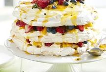Pavlovas / The Aussie pav! Try the dessert favourite in all its fruity (or chocolatey) goodness with these fabulous pavlova recipes. Try vanilla pavlovas, berry-topped pavlovas, lemon mini pavlovas, and rhubarb pavlovas.