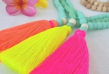 Tassel necklaces / Tassel necklaces by Bright new Penny + beach wear + pretty things  www.brightnewpenny.com