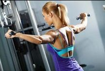 Arm and Upper Body Workouts / Get lean and toned arms and shoulders with these fun and challenging arm exercises. Dumbbell curls, triceps dips, TRX- overhead press and push-ups.